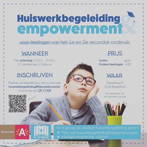 Jeugdcentrum De Palmboom organiseert huiswerkbegeleiding!