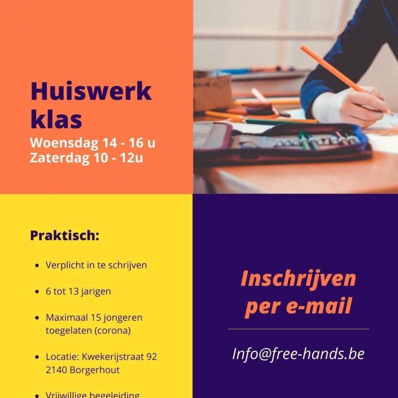 Free Hands organiseert een huiswerkklas